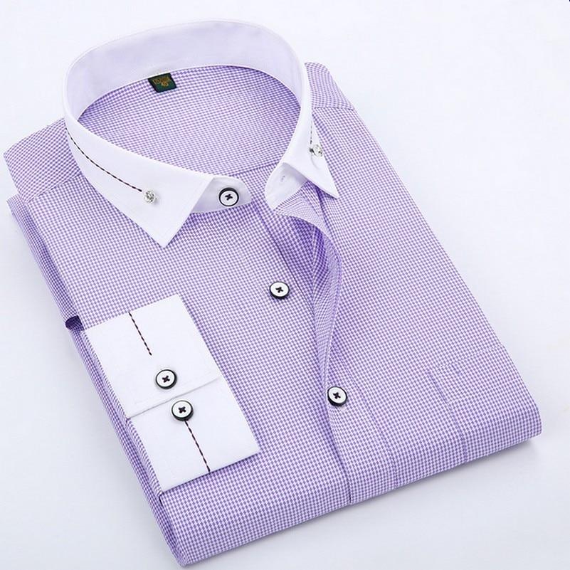 Contraste color moda nupcial Camisas de traje para los hombres nueva ...