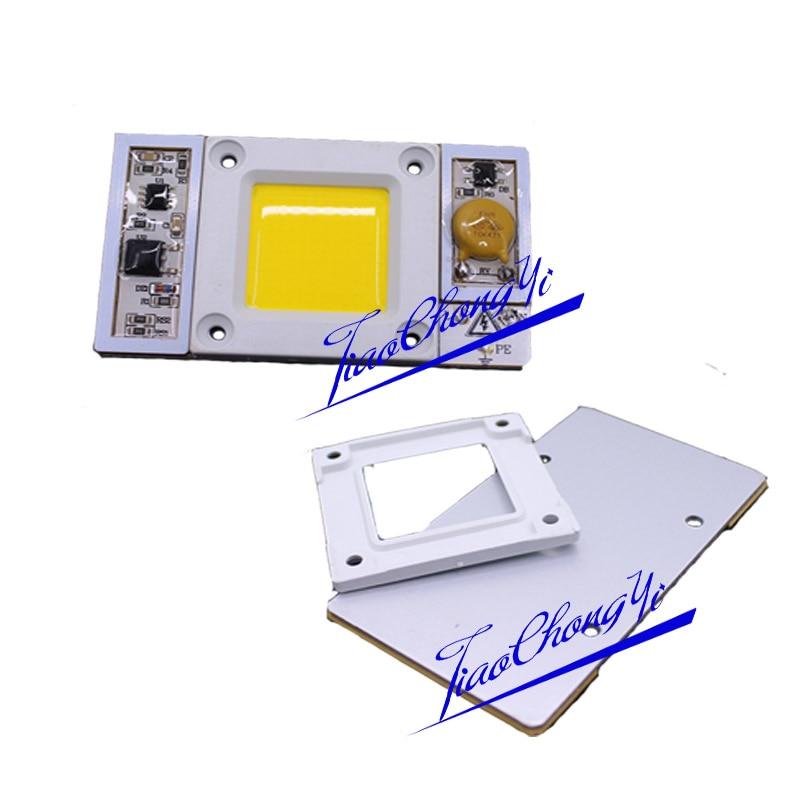 50 Вт 220vac 170-265vac высокое Мощность светодиодный чип встроенный в драйвера теплый белый холодный белый светодиод, 380-840nm полный спектр привело