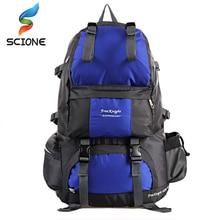 50L Outdoor Rucksack bags women&men waterproof nylon backpack travel Hiking Mountaineering bag packs mochila free shipping D26