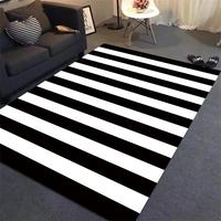 Simple Black/White Stripes Carpets For Living Room Home Bedroom Rugs And Carpets Children Study Room Area Rug Coffee Table Mat