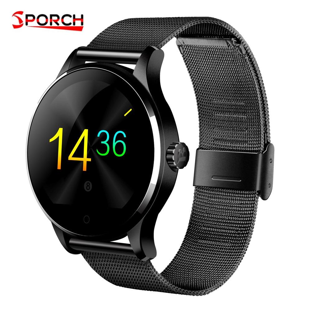 Sproch K88H MTK2502C Bluetooth montre intelligente IPS écran veille moniteur de fréquence cardiaque IP54 étanche Smartwatch hommes pour Android IOS
