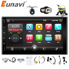 "Eunavi 2 Din 7"" Android 6.0 7.1 2din New Universal Car Radio Double din Stereo GPS Navigation In Dash Pc Video 2G RAM WIFI USB"