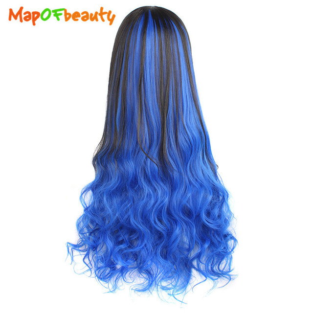 Mapofbeauty 30 Long Loose Wave Hair Extensions Half Wigs Clip In