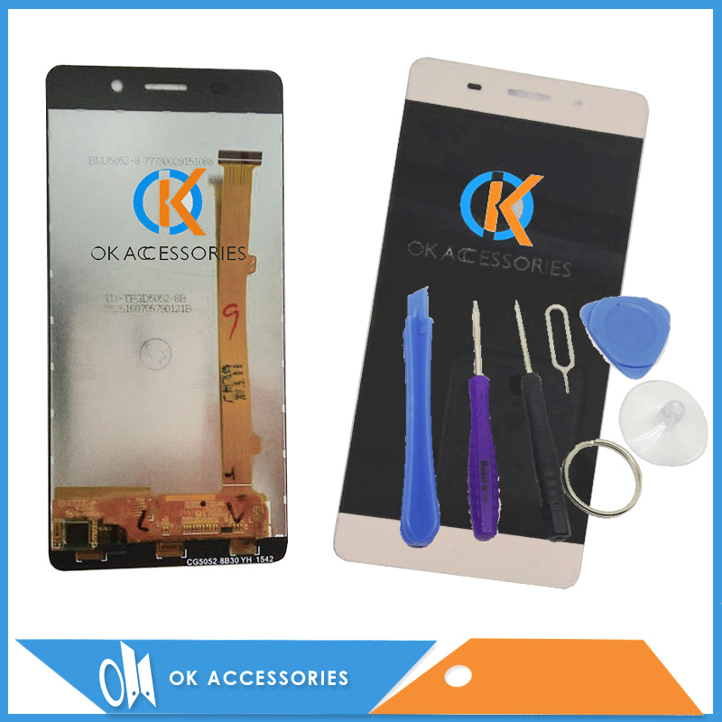 Black Gold White Color For Highscreen Power Ice LCD Display+Touch Screen Digitizer Assembly High Quality With Tools 1PC/Lot