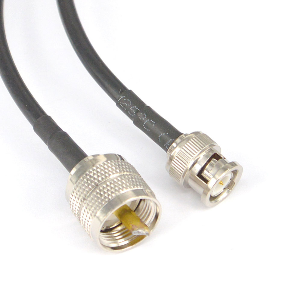 WIFI Antenna Cable UHF male to BNC Male Pigtail Cable Connector Low Loss RG58 15cm,50cm,100cm,200cm rf coaxial cable uhf male to male connector uhf pl259 male to uhf male pl259 rg58 pigtail cable 50cm