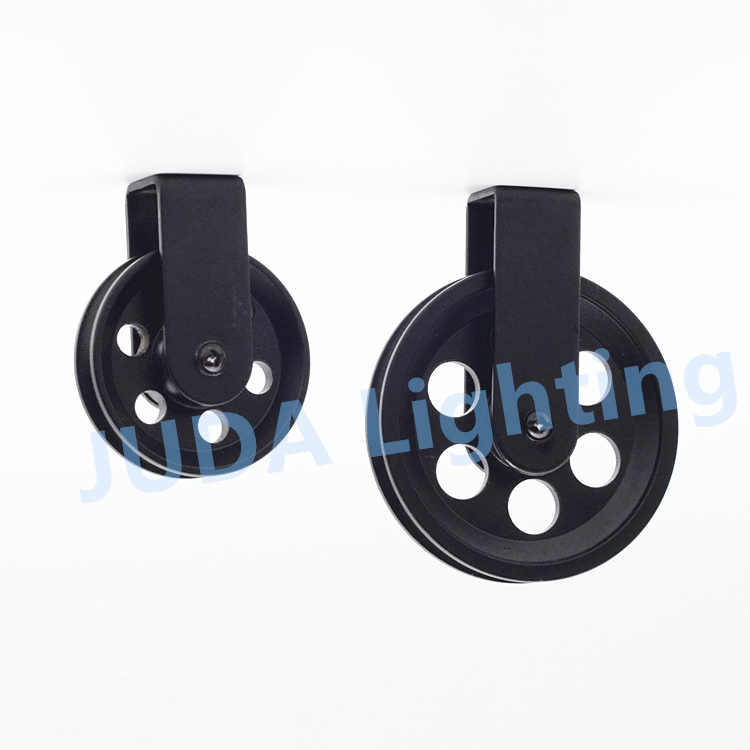 Black Light Lifters Wheel pulley Lighting Accessories Cable wire lifter for ceiling led chandeliers American retro iron lamp DIY