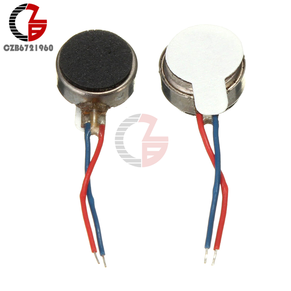 5 x Coin Flat Vibrating Micro Motor DC 3V Fit For Pager and Cell Phone Mobile BB