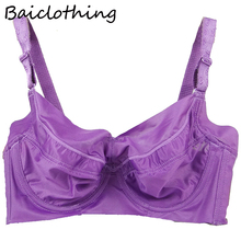 Baiclothing Comfortable Womens Smooth Seamless Bra Full Coverage Big Size Silky Underwired Ultra-thin 34~48 B C D E F G H