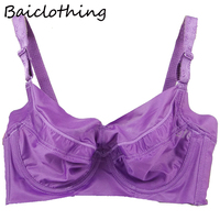 66ff7564d Baiclothing Comfortable Womens Smooth Seamless Bra Full Coverage Big Size  Silky Underwired Ultra Thin Bra 34