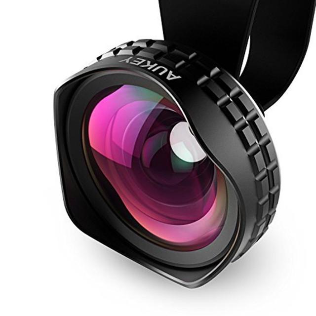 Aukey Óptica Pro Lente de 18 MM HD Amplio Ángulo de la Cámara Del Teléfono Celular kit de la lente 2x más paisaje para iphone samsung htc y otros Smarphones