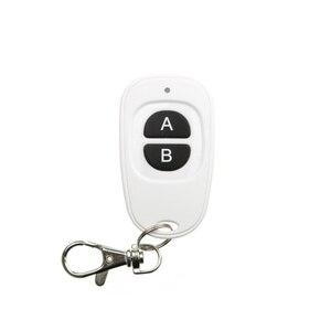 Image 3 - 85 V 110 V 120 V 220 V 250 V 1CH 10A RF Wireless Switch בקרים מרחוק ממסר מקלט & 2 * הלבן AB מפתחות עמיד למים משדר