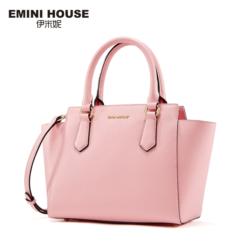 EMINI HOUSE Multicolor Split Leather Trapeze Bag Women Messenger Bags High Quality Handbags Women Bags Designer Shoulder Bag