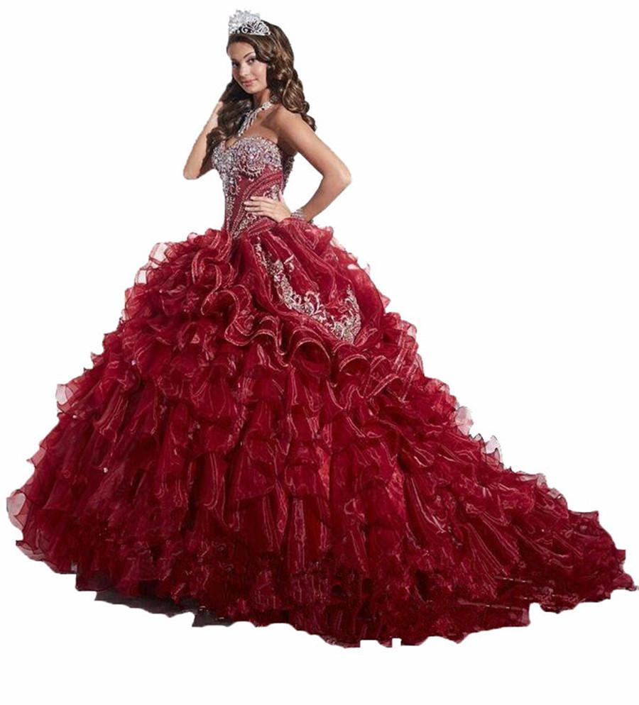 Quinceanera Dress Burgundy Promotion Shop For Promotional