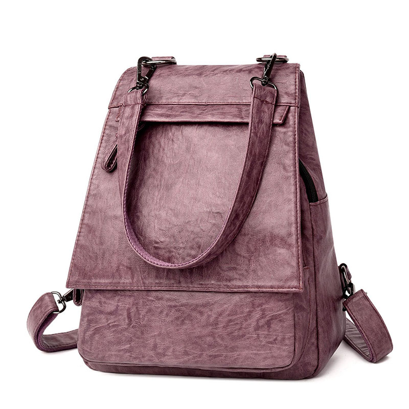 Women Backpacks Women's Sorf Pu Leather Backpacks Female School Backpack Women Shoulder Bags For Teenage Girls Travel Back