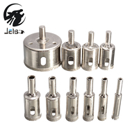 Jelbo 10PCS Drill Bits 8 50mm Diamond Coated Core Hole Saw Drill Bits Tool Cutter For