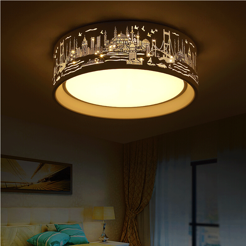 Modern Ceiling Lights simple Round LED ceiling lamp for living room study/bedroom lights Home decorative lighting fixtures vemma acrylic minimalist modern led ceiling lamps kitchen bathroom bedroom balcony corridor lamp lighting study