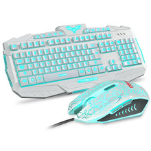 Wired Backlight Keyboard and Mouse Set Combo 2400DPI USB Emitting Multimedia Waterproof Sport gamer for Laptop computer Laptop Desktop