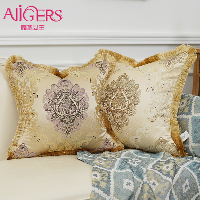 Decorative Throw Pillow Case Cushion Cover 20 x 20 50cm x 50cm Set of 2 Square Throw Cushion Covers Pillow Shams for Bed Without Pillow Inserts Double-Sided Embroidery Yellow, 20x20 inches