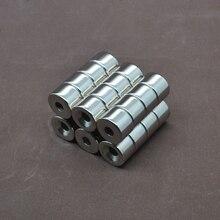 10 шт. 15x10 сильные постоянные Круглые неодимовые Редкоземельные потайные кольцевые магниты 15 мм x 10 мм отверстие: 5 мм редкоземельные 15*10-5 мм