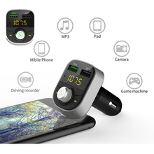 QC3.0 Dual Usb Car Charger Car Wireless Bluetooth FM Transmitter Car Kit Handsfree Call Monitor Car Mp3 Player Voltage Meter