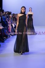 sexy lady schöne neue hot fashion design eine schulter schwarz linie bodenlange neuesten elegant prom kleider