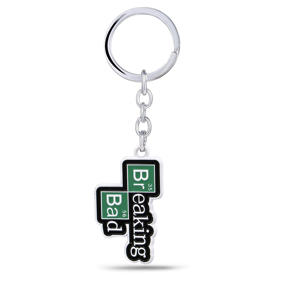 TV Breaking Bad Keychain BA BR Metal Pendant Cool Key Ring Holder Men Car Women Bag Key Chain Chaveiro Jewelry