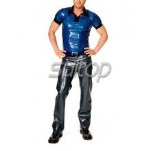 Suitop латексный костюм брюки латексный резиновый длинные брюки 0,6 мм толщина латексные тяжелые джинсы
