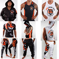 Mens Tiger Muay Thai mma Shorts Hoodies Pants MMA Shorts Kick Trunks Fight Wear Cheap MMA Clothing M-3XL Black White