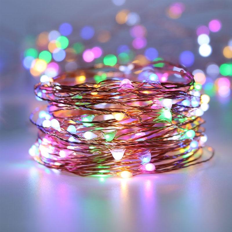 33Ft 100 LED Bakır Tel dize ışıkları LED Peri Işıklar Açık - Şenlikli Aydınlatma - Fotoğraf 1
