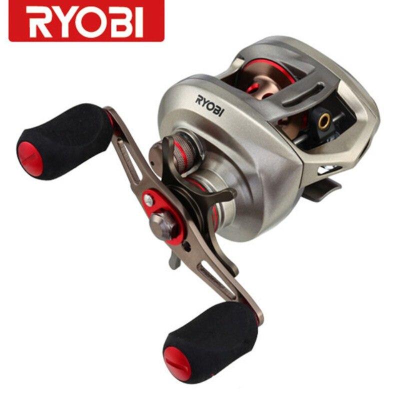 RYOBI AQUILA Brand Baitcasting Reel 8+1BB 195g Metal Spool LH & RH Double Brake System Bait Casting Fishing Reel Molinete Pesca