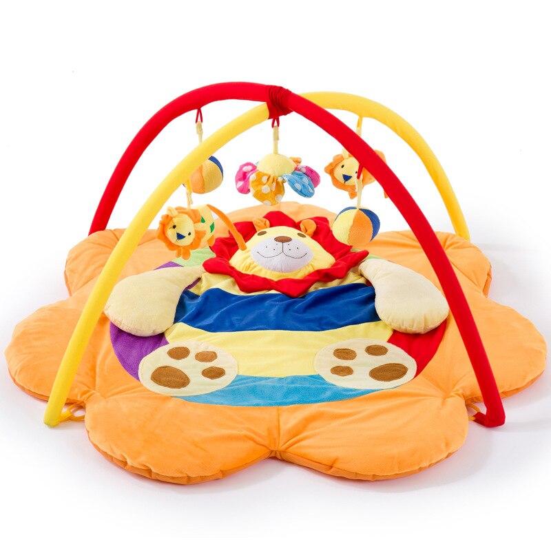 Tapis de jeu bébé tapis de jeu bébé Lion jouer jeu couverture ramper support de couverture Fitness cadre ramper Pad bébé musique jouets 0-6-12Y