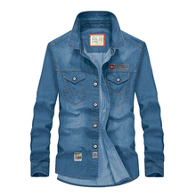Marke jeanshemd männer camisa masculina baumwolle mode jeanshemd camisa denim hombre casual mens shirts plus größe 5XL IN8667-1