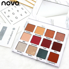 Novo Eyeshadow Palette 12 Color Make up Matte Shimmer Pigment  Profesional Eye Shadow