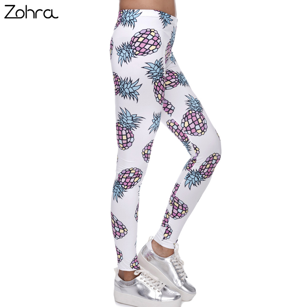 Zohra Hoge Elasticiteit Fruit Gedrukt Mode Slim Fit Legging Workout - Dameskleding