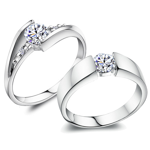 wedding ring sets cheap 2017 real 925 sterling silver ring with cz 9989