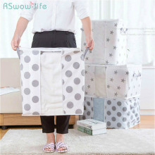 Non-woven Quilt Storage Bag Printed Finishing Large Capacity For Household Collection