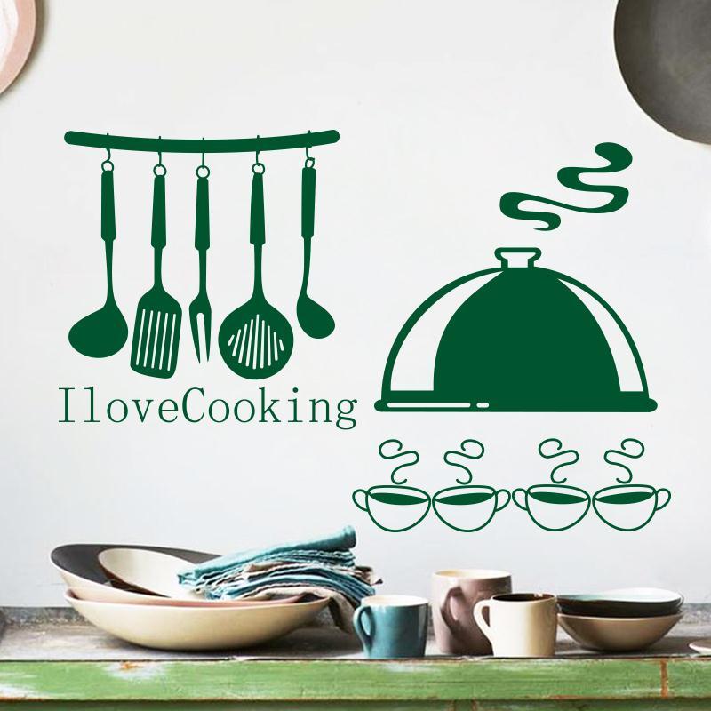 caliente venta de arte la decoracin del hogar barato pvc de cocina etiqueta de