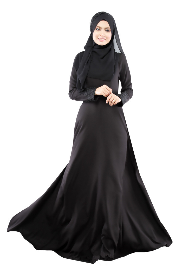 Hot Latest Fashion 2017 Muslim Kaftan Abaya Dresses O Neck -8775
