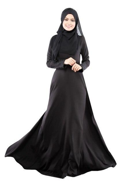Visualizzza di più. Hot Ultima Moda 2017 Musulmano Caftano Abaya Abiti Da  O-Neck Empire Waist Manica Figura 361e7d43547