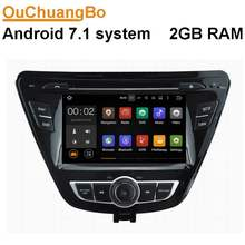 Ouchuangbo android 7,1 Система Авто Стерео подходит для Hyundai Elantra 2014 с gps wifi Bluetooth MP3-плеер 1080P видео 2G RAM