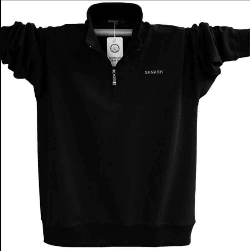 Mens Langarm Polo Shirt Marke Hohe Qualität Plus Größe Stehkragen - Herrenbekleidung - Foto 2