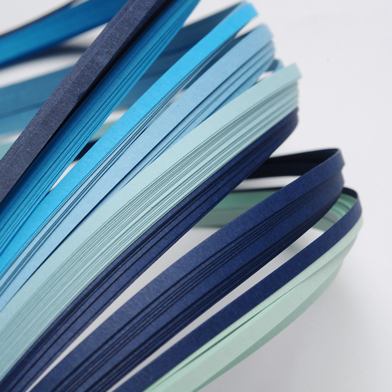 1Bag 6 Colors Blue Quilling Paper Strips Origami Paper For DIY Home Decoration, 390x3mm; About 120strips/bag, 20strips/color