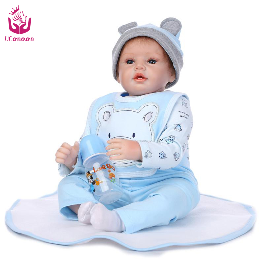 New!UCanaan 50-55cm Silicone Reborn Doll Playhouse Toys /NPK Doll Toys Fashion Dolls For Boys Gift The Best Christmas Gift