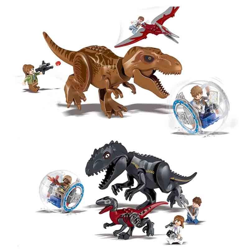 82028 2pcs/set Jurassic World 3 Park Dinosaurs Figures Building Block Brick Toys Children Compatible With Legoings