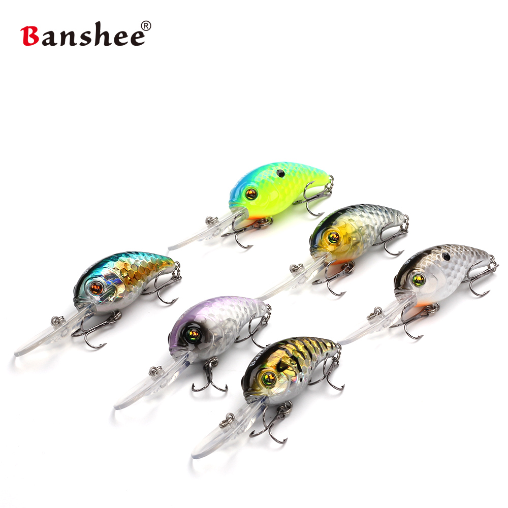Floating Deep Diving Crankbait Fishing Lures VC04 Lifelike Wobblers lure set Hooks peche isca artificial hard bait leurre pesca