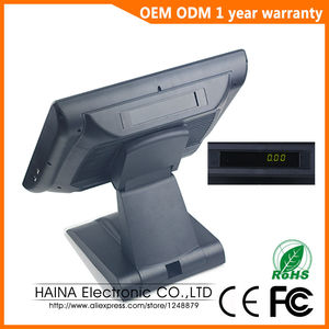 Image 3 - 15 inch with Customer display Touch Screen POS System Electronic Gas Station Cash Register Machine