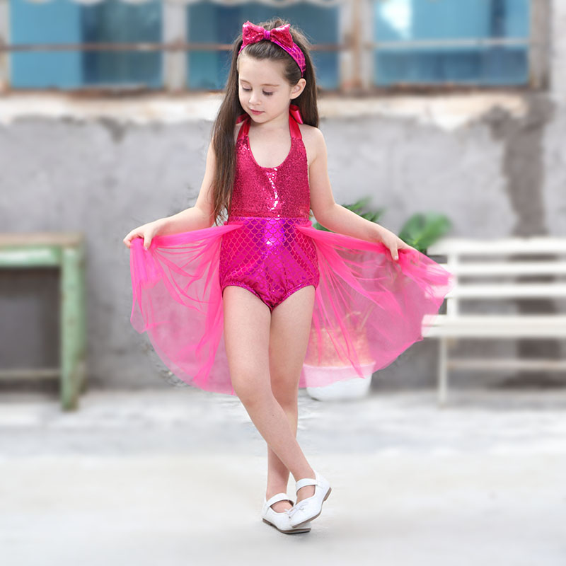 Girls Little Mermaid Tail Ariel Swimming Costume Swimwear Suit  or Photo Shoot Mermaid Tails Outfit Birthday Party Costumes
