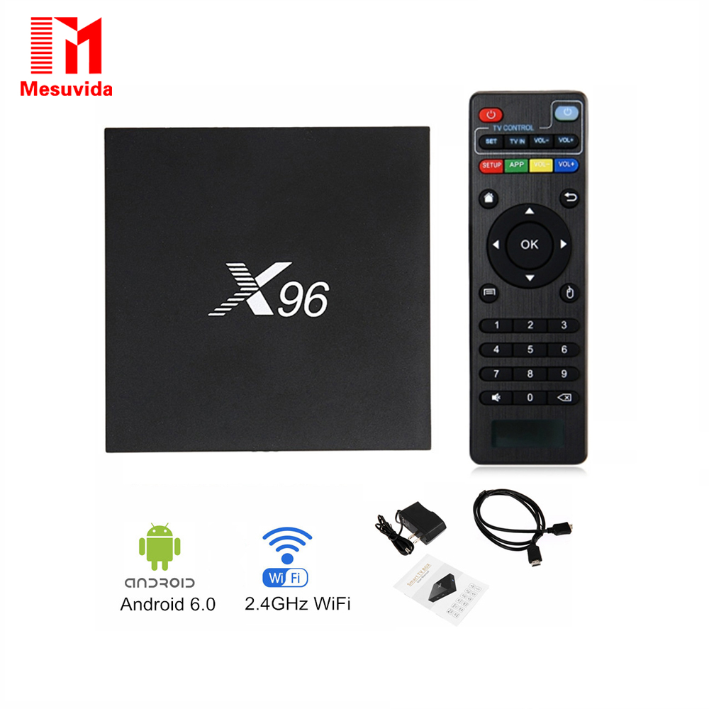 Mesuvida X96 2GB 16GB Amlogic S905X Quad Core Android6.0 Smart TV Box WIFI 2.0 4K*2K Kd Full Load Set Top Box Smart Media Player