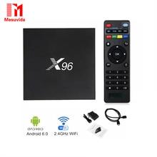 Mesuvida X96 2 ГБ 16 ГБ Android6.0 S905X Amlogic Quad Core Smart Box TV WI-FI 2.0 4 К * 2 К Kd Полной Нагрузке Set Top Box Smart Media Player