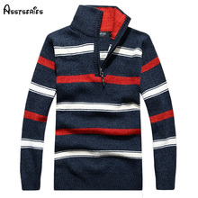 2018 The New Fall Winter Men thick striped sweater pullover sweater large size men s casual